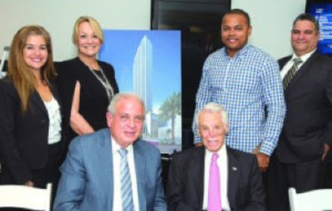 Pictured (l-r) are City of Miami deputy city manager Alice Bravo, managing director of the City of Miami's Office of international Business Development Mikki Canton, Miami Mayor Tomas Regalado, Florida East Coast Realty chair Tibor Hollo, Miami Commissioner Keon Hardemon, and Miami city manager Danny Alfonso.